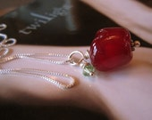 Sweet Apple - lampwork glass bead pendant
