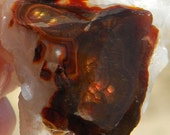 Natural Mexican windowed fire agate fa1-72