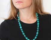 Turquoise necklace / Turquoise bead necklace  / Turquoise statement necklace / Chunky Turquoise necklace / December birthstone