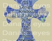 Convert and Guide Christian Biblical Religious Printable Cross for Digital Download Craft Supplies