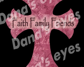 Christian Faith Cross Printable graphic art