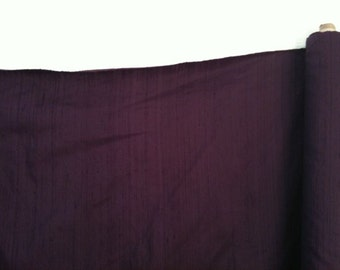 Eggplant Purple 100% Dupioni Silk Fabric Wholesale Roll/ Bolt