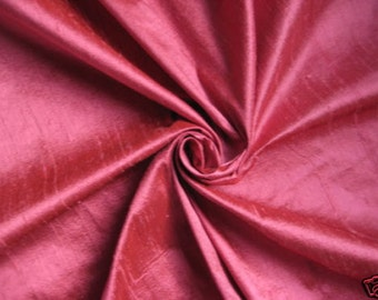 Rose Pink 100% Dupioni Silk Fabric Wholesale Roll/ Bolt