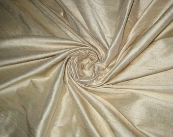 "Pure Ivory Bridal 100% dupioni silk yardage By the yard 55"" wide"