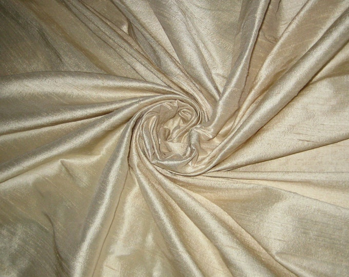 "Ivory 100% Dupioni Silk Fabric Bridal Wholesale Roll/ Bolt 55"" wide"