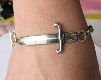 sword bracelet silver