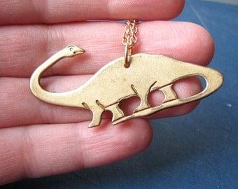 brontosaurus necklace - dinosaur jewelry - apatosaurus