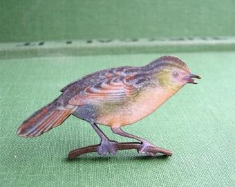 pastel bird brooch pin