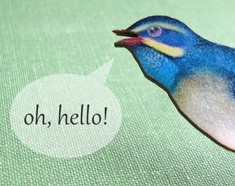 blue bird brooch pin - colorful bluebird