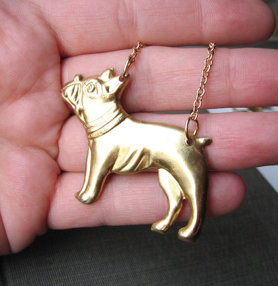 boston terrier necklace - dog jewelry