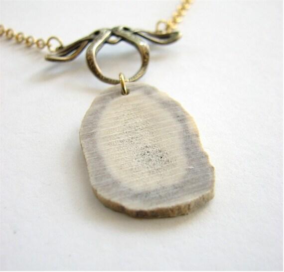 the lovely bones necklace - deer antler horn slice jewelry