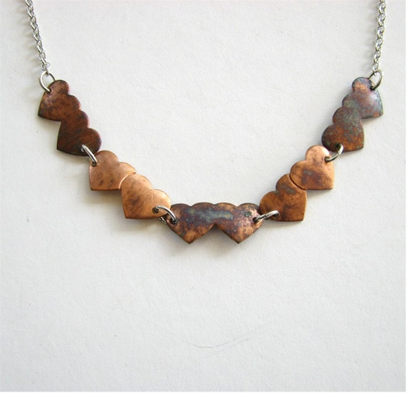 whole lotta love necklace - vintage hearts on silver Valentine's Day