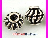 10x Sterling Silver Handmade Bali Bead Spacer S85