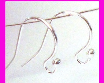 925 stamped Sterling Silver french hook ball end earring ear wire  EarWires  E30