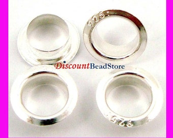 20pcs 925 Sterling Silver Rivet Grommet Eyelets for large hole  glass Lampwork Beads f95