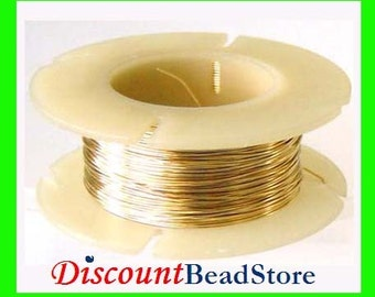 on Sale 28 gauge half troy ounce 14k Gold Filled solid Round Wire Half Hard in spool beading wrapping wire