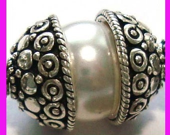 2x Half Bead Bali Sterling Silver bead caps 11.5mm x 5.5mm C36