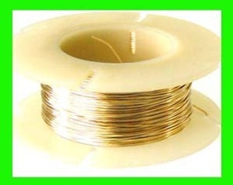 on Sale 30 gauge 14k gold filled solid round wire .5 oz approx. 107 ft dead soft beading stringing wrapping wire