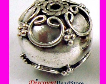 2pcs Sterling Silver Round Bali Bead 8.5mm B168