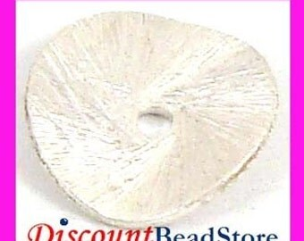 10mm sterling silver spacer potato chip disc disk curved S87