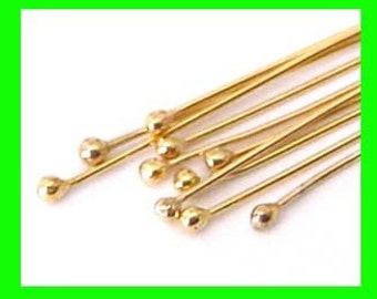 26 gauge 14k gold filled round ball end head pins  Headpin 1.5 inches (50pcs) GF30
