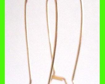 10pcs Large 14k yellow Gold Filled Kidney Earring Ear Wire Earwire  GE09