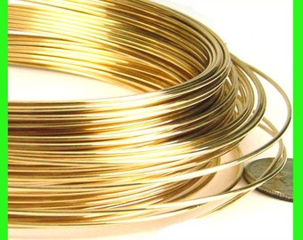 1ft  16 gauge 14k gold filled Wire round beading half hard yellow gold