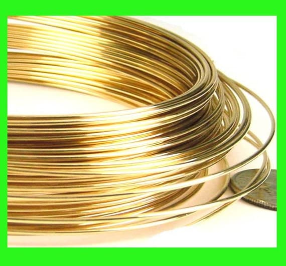 2 feet 14k Yellow gold filled Wire 20 gauge round beading wraping craft wire half hard