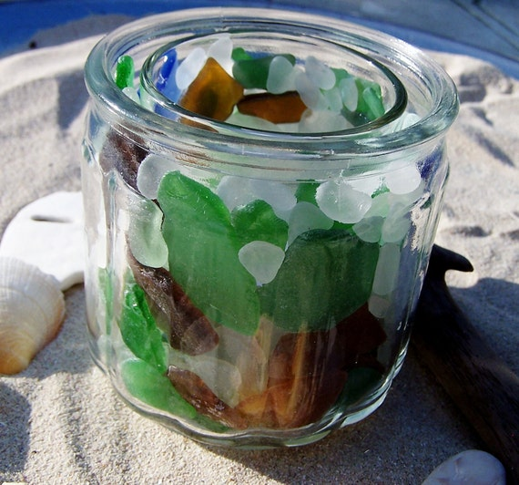 "Sea Glass ""Kaleidoscope"" Candle Jar"