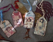 vintage sewing tags vintage ribbon pick one free shipping