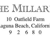 the Formal stamp - custom address stamp