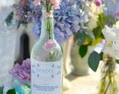 vintage style custom wine bottle label - menu
