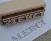 merci - rubber stamp