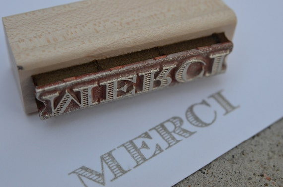 merci - rubber stamp