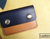 Leathinity - Black Leather Coin Pouch x Cardholder