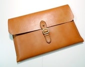 "Leathinity - Hand Stitched Tan Leather Case Fits for 12"" MacBook"