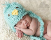Little Fluffy  Knit Baby Chick Hat, Adorable Photography Prop