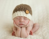Little Knit Two Tone Beanie for Baby, Beautiful Photography Prop, Choose Your Colors