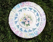Peony Bouquet Vintage Mosaic Stepping Stone