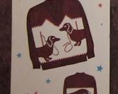 Knit O Graf no. 227 Dachshund Dogs size 8 - 10 - 12 - 14