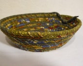 Earthy Fabric Coiled Bowl