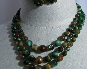 Vintage Forest Greens and Browns new/old stock 60's...csc 107