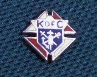 Knights of Columbus Sterling Silver Lapel Pin   1960s NEW OLD STOCK...csc132