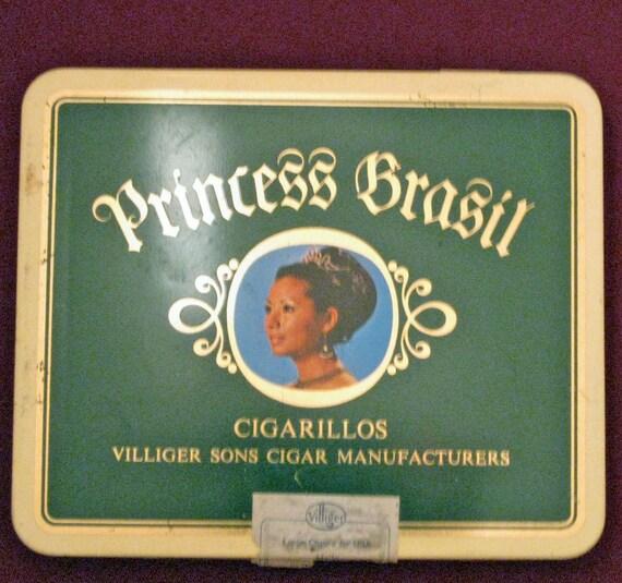 Vintage Princess Brazil Cigarillo Tin