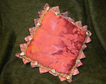 x Fabulous Antique Pillow with Extensive Ribbonwork (FF401)