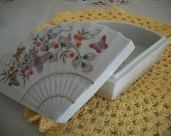 Avon Fan Trinket Box