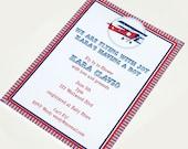 Vintage Bi-Plane Printable Invitation