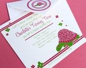 Preppy Turtle Printable Invitation