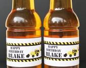 Dig It Construction Printable Bottle Labels