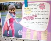 SuperHero Girl Printable Party Invite